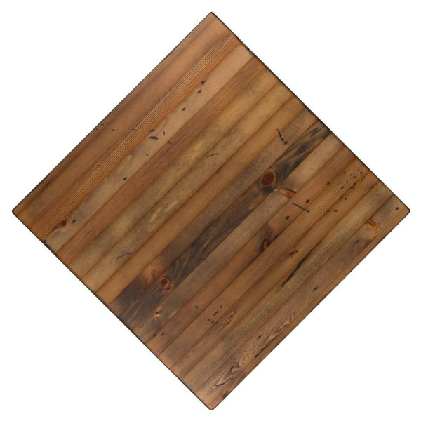 Solid Wood Reclaimed Pine Restaurant table tops, Available in any shape or size. For commercial use.