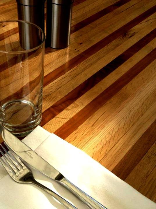 wood restaurant table tops