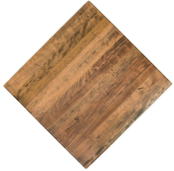standard plank cherry nutmeg color, solid wood restaurant table. Experts in Restaurant tabletop manufacturing.
