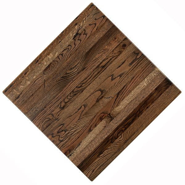 Solid Oak wood reclaimed and distressed restaurant tables in any shape and any size.