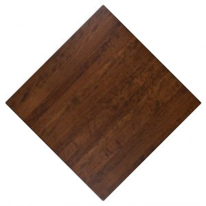 Cherry stained solid wood custom restaurant tabletops